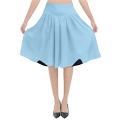 Sneaky Kitty Flared Midi Skirt