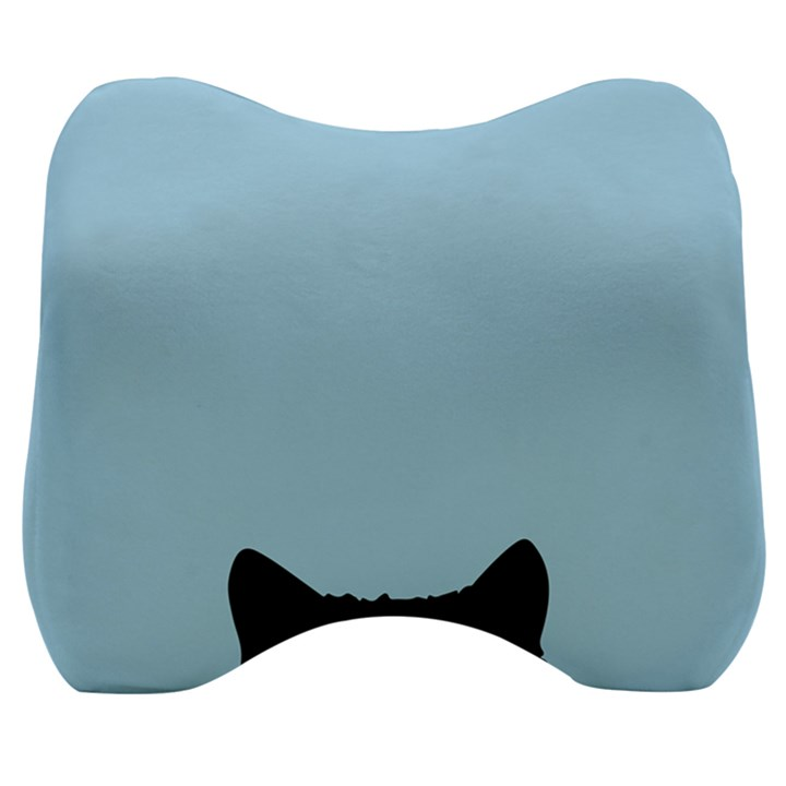 Sneaky kitty Velour Head Support Cushion