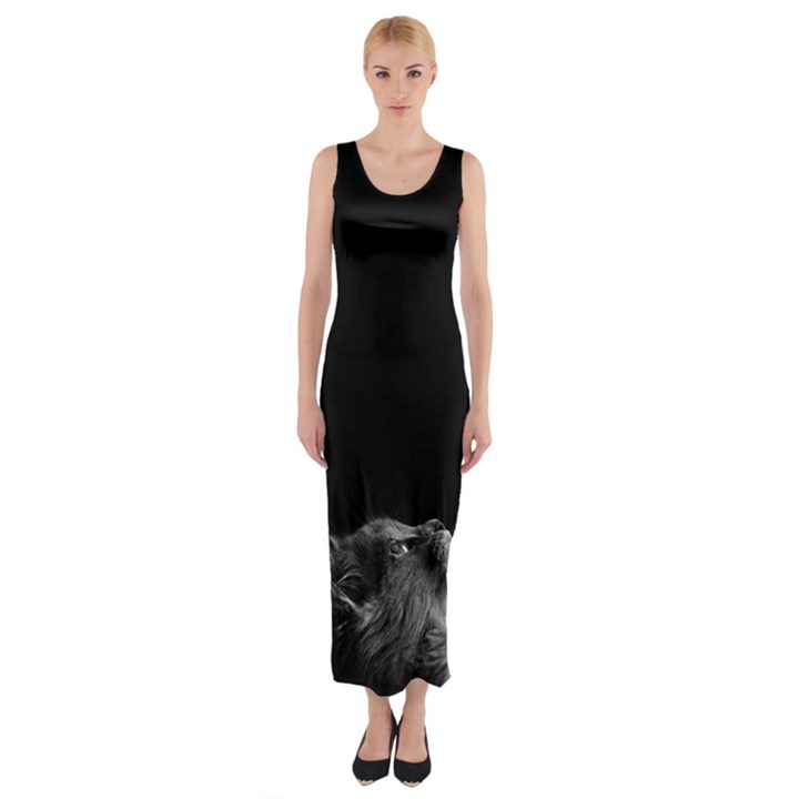 Who is there? Fitted Maxi Dress