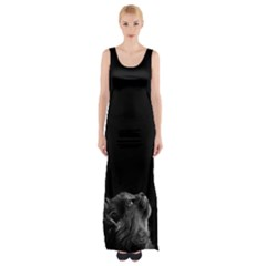 Who Is There? Thigh Split Maxi Dress