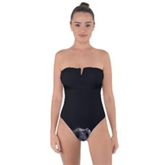 Who Is There? Tie Back One Piece Swimsuit
