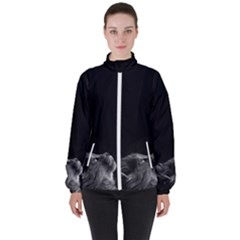 Who Is There? Women s High Neck Windbreaker