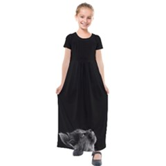 Who Is There? Kids  Short Sleeve Maxi Dress