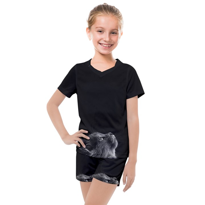 Who is there? Kids  Mesh Tee and Shorts Set