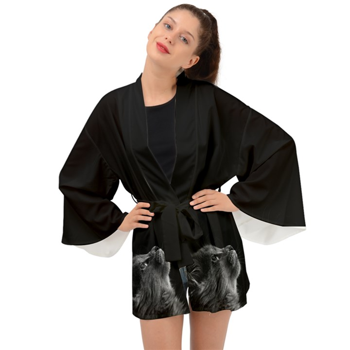 Who is there? Long Sleeve Kimono