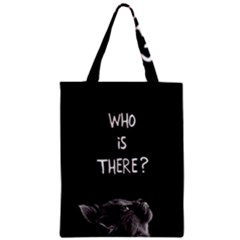 Who Is There? Zipper Classic Tote Bag