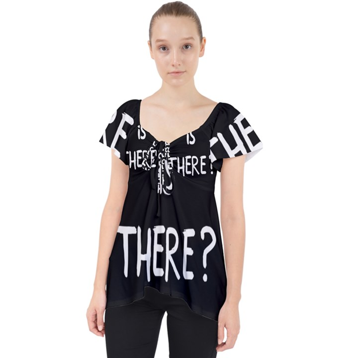 Who is there? Lace Front Dolly Top