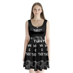 Who Is There? Split Back Mini Dress