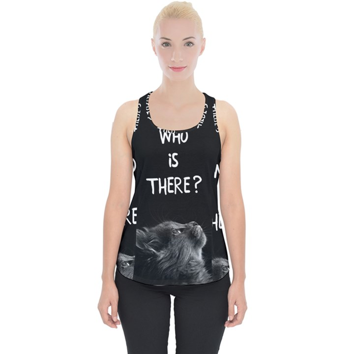 Who is there? Piece Up Tank Top