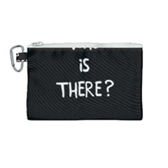 Who Is There? Canvas Cosmetic Bag (medium)