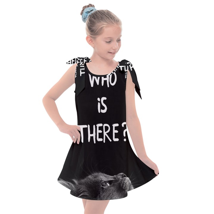 Who is there? Kids  Tie Up Tunic Dress