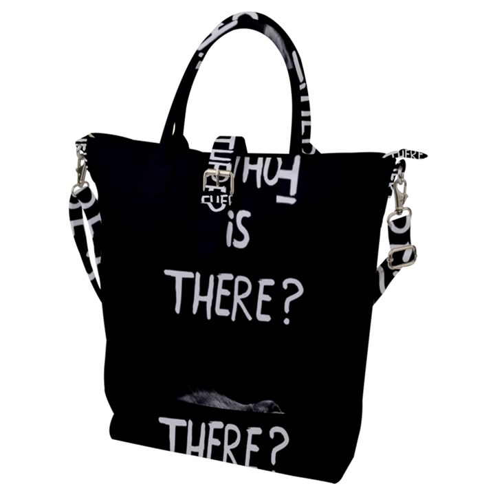 Who is there? Buckle Top Tote Bag