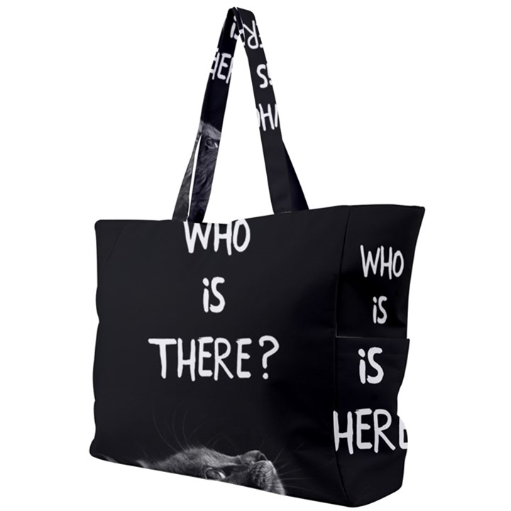 Who is there? Simple Shoulder Bag