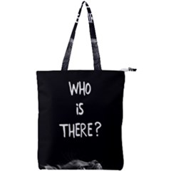 Who Is There? Double Zip Up Tote Bag
