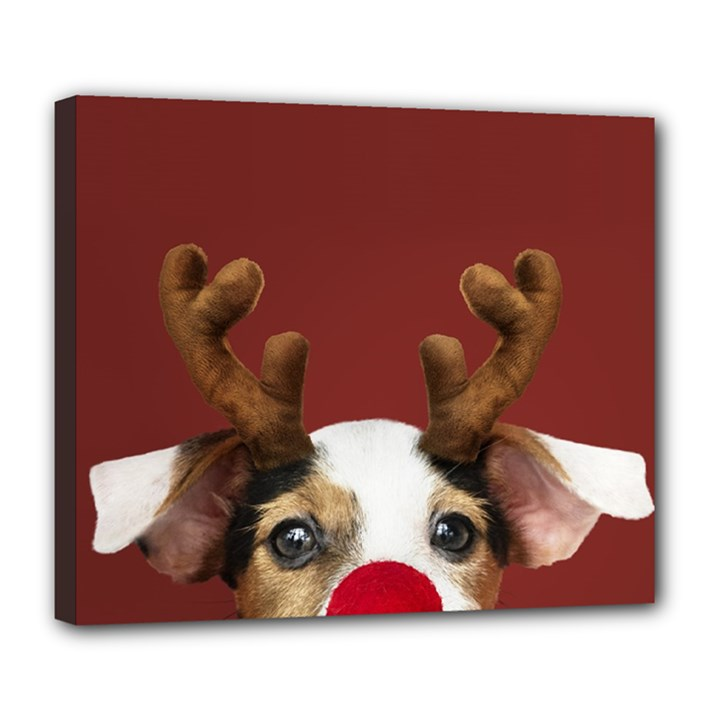 Christmass deer Deluxe Canvas 24  x 20  (Stretched)