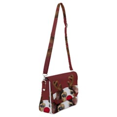 Christmass Deer Shoulder Bag With Back Zipper