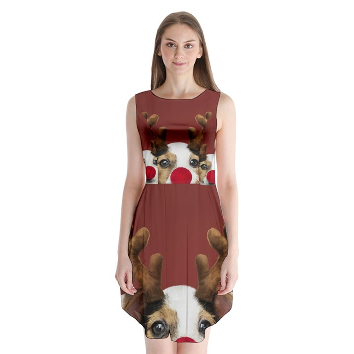 Christmass deer Sleeveless Chiffon Dress