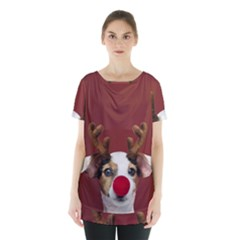 Christmass Deer Skirt Hem Sports Top