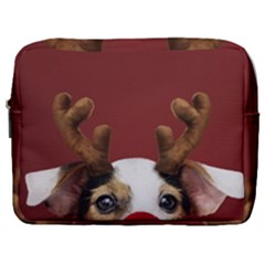 Christmass Deer Make Up Pouch (large)