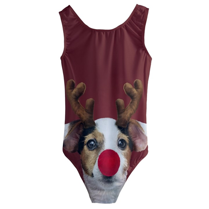 Christmass deer Kids  Cut-Out Back One Piece Swimsuit
