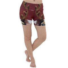 Christmass Deer Lightweight Velour Yoga Shorts