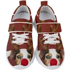Christmass Deer Kids  Velcro Strap Shoes