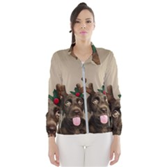 Christmas Dog Women s Windbreaker