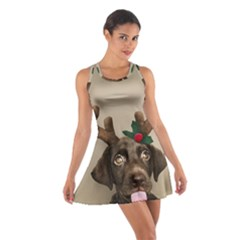 Christmas Dog Cotton Racerback Dress
