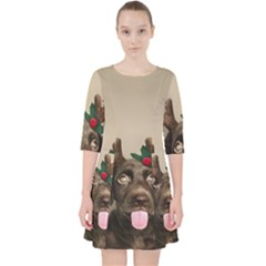 Christmas Dog Pocket Dress