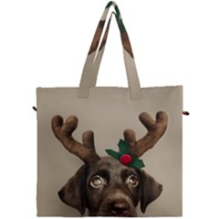 Christmas Dog Canvas Travel Bag