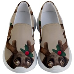 Christmas Dog Kids Lightweight Slip Ons