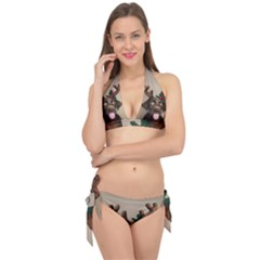 Christmas Dog Tie It Up Bikini Set