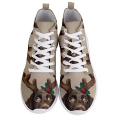 Christmas Dog Men s Lightweight High Top Sneakers