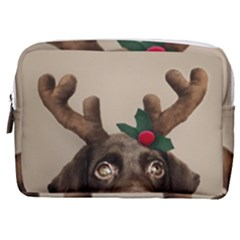 Christmas Dog Make Up Pouch (medium)