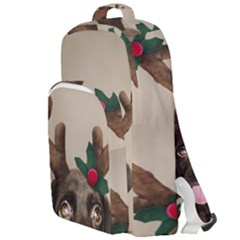 Christmas Dog Double Compartment Backpack