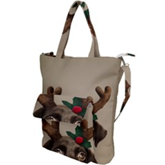 Christmas Dog Shoulder Tote Bag