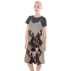 Christmas Dog Camis Fishtail Dress