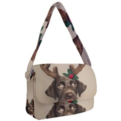 Christmas Dog Courier Bag