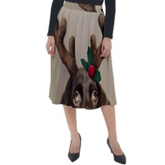 Christmas Dog Classic Velour Midi Skirt