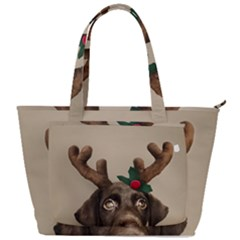Christmas Dog Back Pocket Shoulder Bag