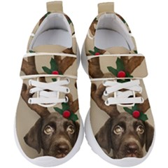 Christmas Dog Kids  Velcro Strap Shoes