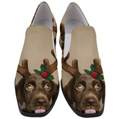 Christmas Dog Women Slip On Heel Loafers