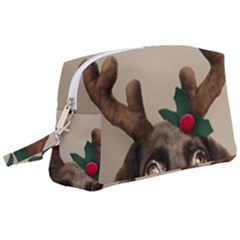 Christmas Dog Wristlet Pouch Bag (large)