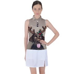 Christmas Dog Women?¯s Sleeveless Polo Tee