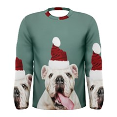 Santa Dog Men s Long Sleeve Tee