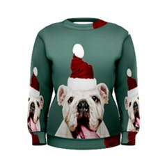 Santa Dog Women s Sweatshirt