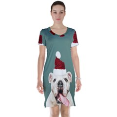 Santa Dog Short Sleeve Nightdress