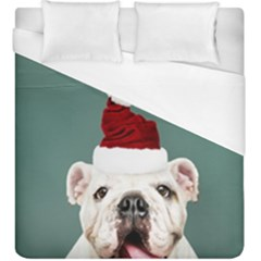 Santa Dog Duvet Cover (king Size)