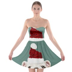 Santa Dog Strapless Bra Top Dress
