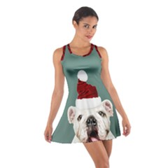 Santa Dog Cotton Racerback Dress